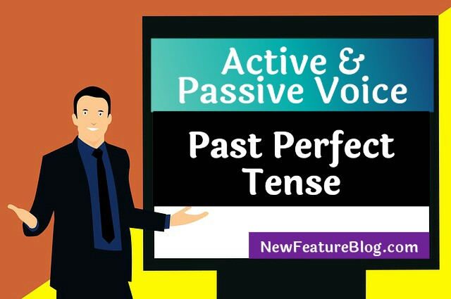 active and passive voice of past perfect tense excercise