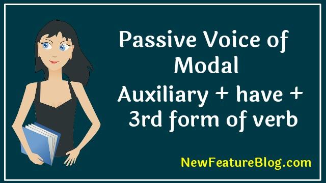 passive voice of past modals