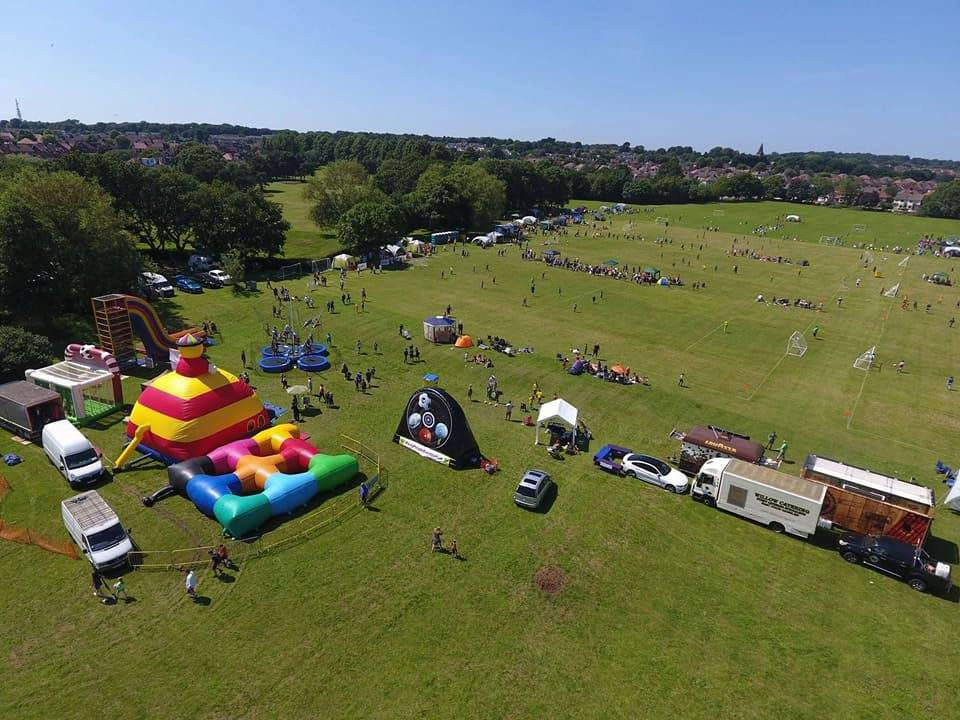 2019 Football Festival aerial photo