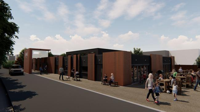 Artist rendition of the youth club