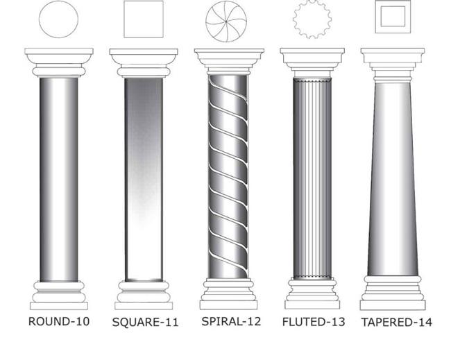 Foam Columns Catalog page