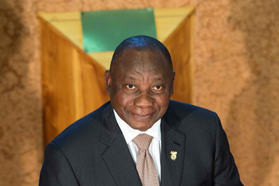 7 February 2019: President Cyril Ramaphosa delivers his State of the Nation address at Parliament in Cape Town, South Africa. (Photograph by Rodger Bosch/Reuters)