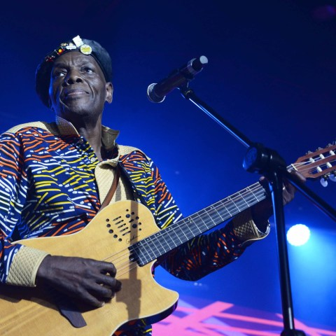 29 September 2018: Oliver Mtukudzi during the 21st Standard Bank Joy of Jazz Festival at Sandton Convention Centre in Johannesburg. (Photograph by Gallo Images / Oupa Bopape)