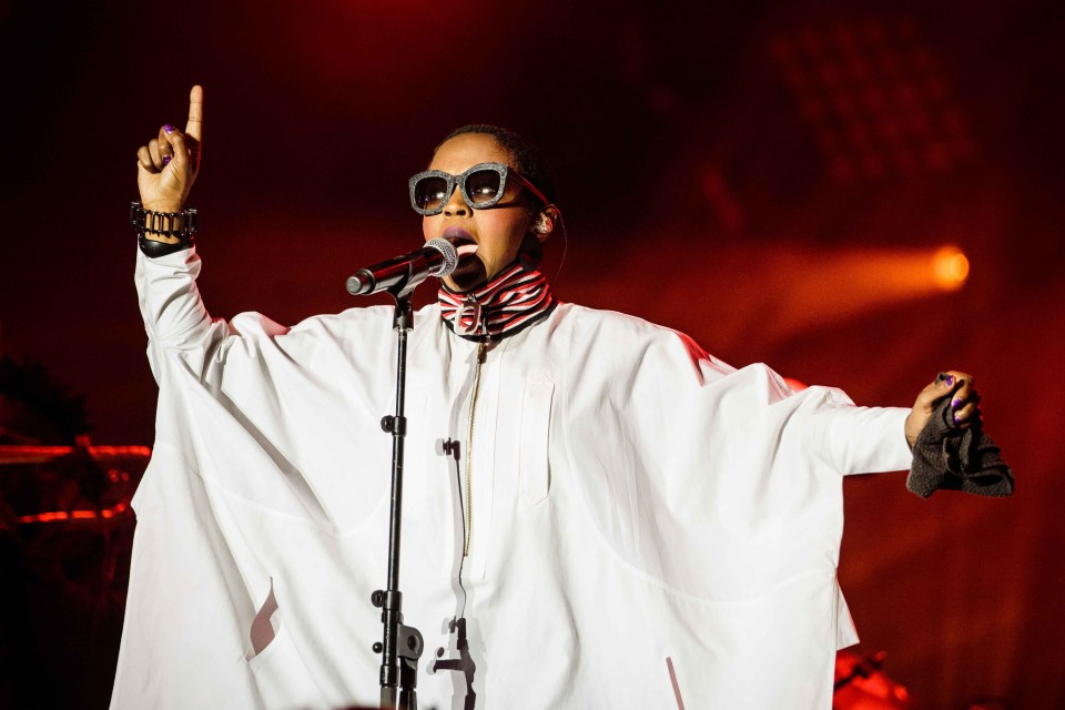 9 September 2016: American hip hop and soul singer, Lauryn Hill, in concert during Fête de l'Humanité, an arts and political event organised annually by the French national daily newspaper L'Humanité. (Photograph by Aurélien Morrisard/IP3/Getty Images)