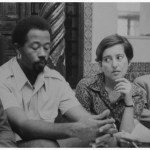 1969: Eldridge Cleaver and Elaine Mokhtefi at the National Liberation Front's headquarters in Algiers. (Photograph supplied by Verso Books)