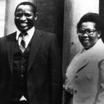 February 1981: The last known photograph of lawyer Griffiths Mxenge, brutally murdered by a death squad in 1981, and his wife Victoria, an activist assassinated in 1985. (Photograph by Gallo Images/Sunday Times Archive)