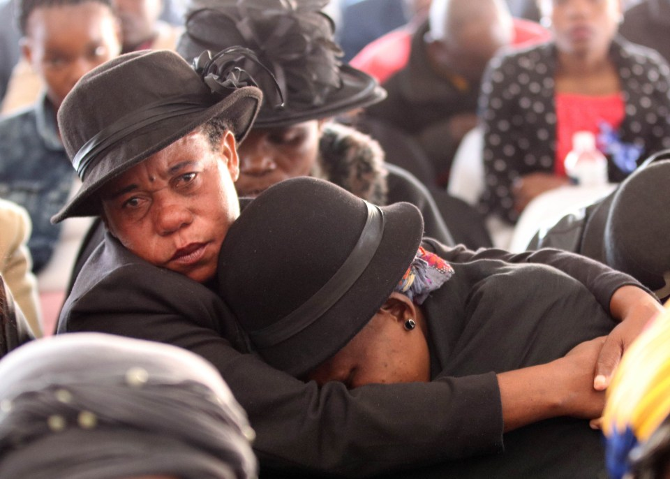 19 July 2018: Family members of one of the 6 miners killed in a fire at Palabora Mining Company. Picture: Antonio Muchave/Sowetan/Gallo Images.