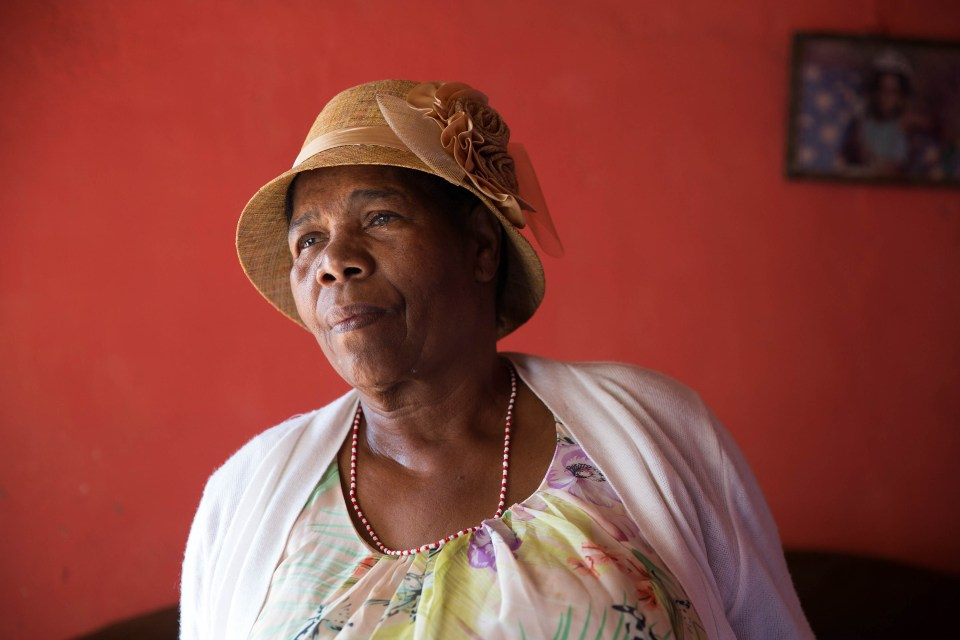 14 January 2019. Catherine Moema, who suffers from glaucoma and is partially sighted, says applying online for the school's registration process is a challenge for the sick, elderly and those who are unable to walk.