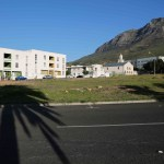 28 April 2019: Houses in District Six with Table Mountain to the right.