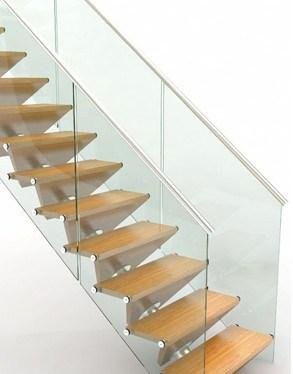 New Glass Tech   Frameless Glass Stair Railing   Metal   Contemporary   Seamless Glass   Glass U Shape   Detail