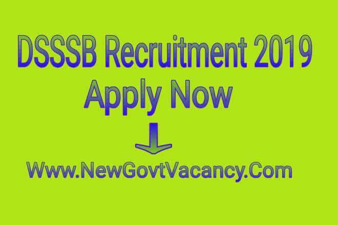 DSSSB Recruitment 2019