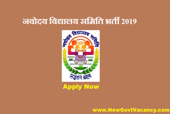 NVS Recruitment 2019