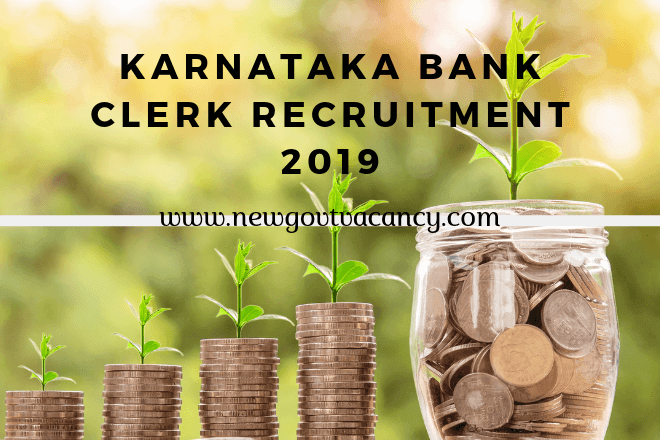 Karnataka Bank Clerk Recruitment 2019