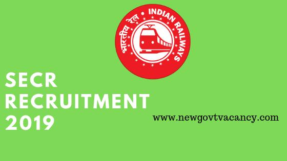 SECR Raipur Railway Recruitment 2019