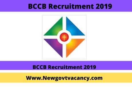 BCCB Recruitment 2019