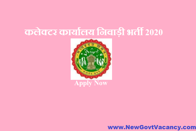 Collector Office Niwari Recruitment 2020