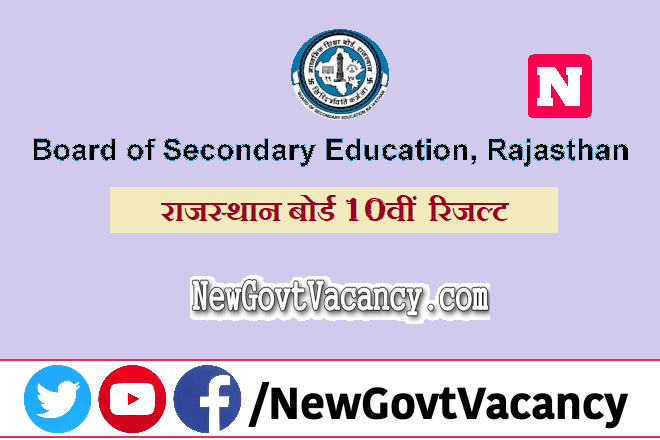 Rajasthan Board 10th Result 2020
