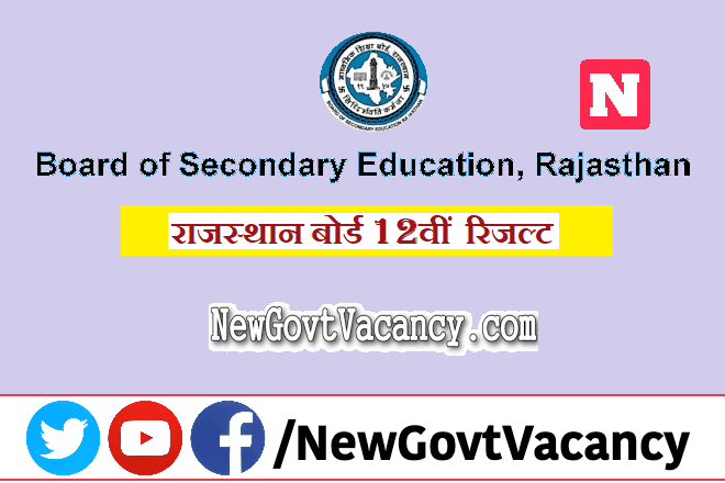 Rajasthan Board 12th Result 2020