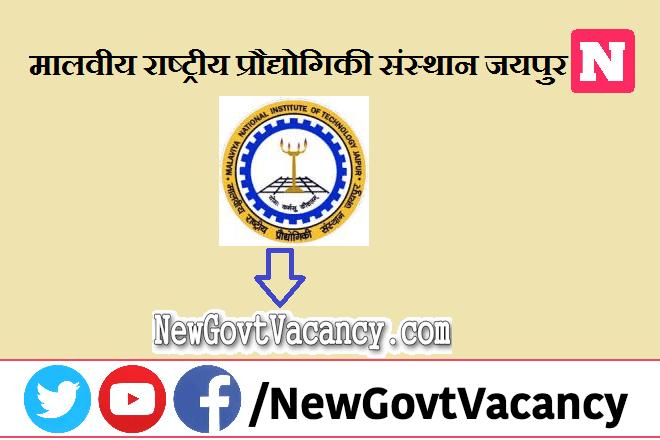 MNIT Jaipur Recruitment 2021
