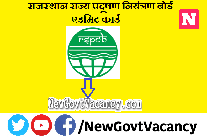 RSPCB Admit Card 2021