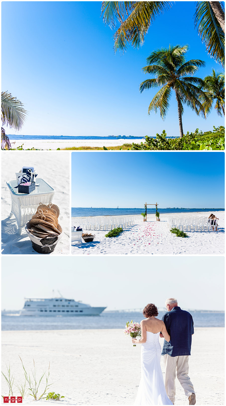 Pink Shell Wedding Julie Brad Fort Myers Beach
