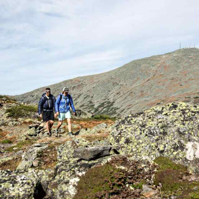Hiking in the southern part of the Presidential Range in the White Mountains of New Hampshire.