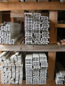 Moisture Shield Composite Trim-exterior corner boards for siding, brick mold, etc. 12' lengths. $.25/lineal ft.