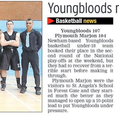 Wednesday 2 April 2014 Youngbloods Pursuit of Glory