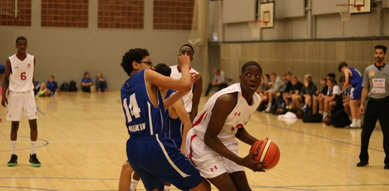 Sultan in Action for Basketball England