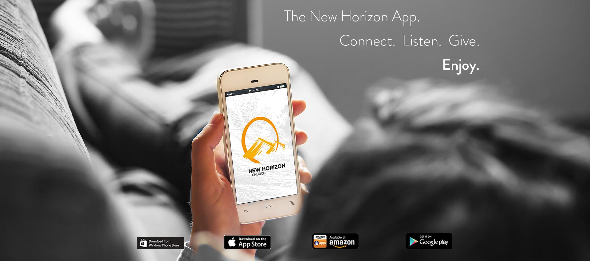 New Horizon App - Amazon, Android, Windows, iPhone