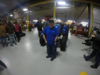 New Holland Rochester employee David Jurado was on hand to help keep the place clean as always