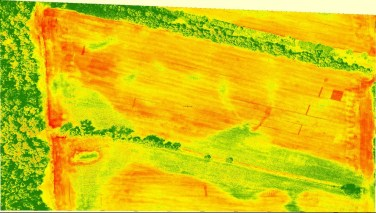 NDVI map of soil differences