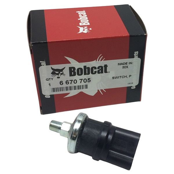 Bobcat Hydraulic Oil Pressure Switch Part # 6665372 - New Holland Rochester