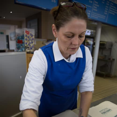Lisa, the Senior Counter Assistant