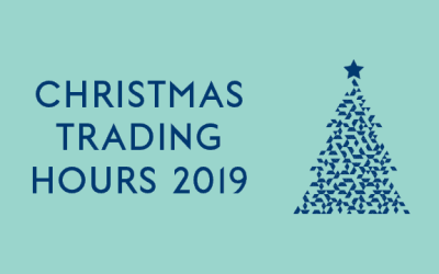 Opening Hours: Christmas and New Years 2019