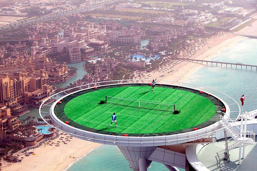 highest tennis court in the world
