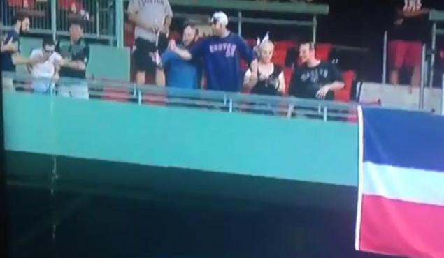 guy pukes upper deck fenway