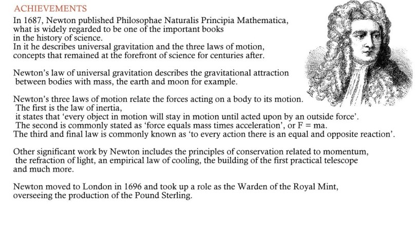 Isaac Newton Facts : Ledgend Who Discovered Gravity