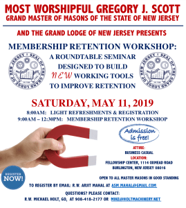 Spring Seminar Saturday, May 11th 9:00 AM @ The Masonic Fellowship Center