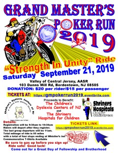 Grand Master's Poker Run 2019 @ Valley of Central Jersey
