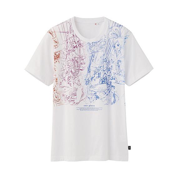 T-shirt mc h graphique one piece uniqulo