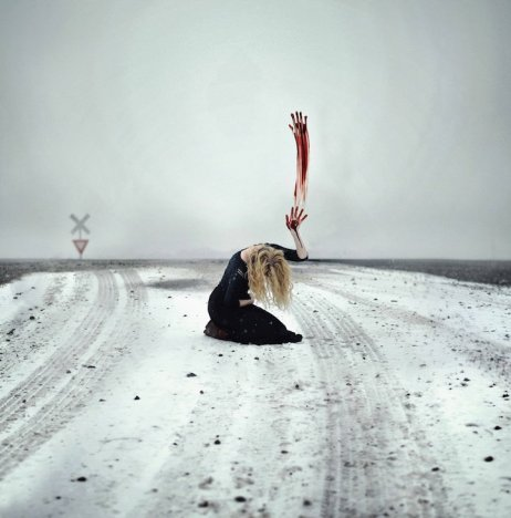Rachel Baran photography hand red