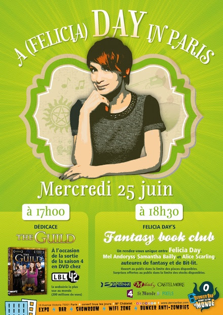Felicia Day in Paris Juin 2014