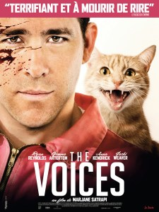 The Voices - Affiche- Ryan Reynolds- Monsieur Moustache