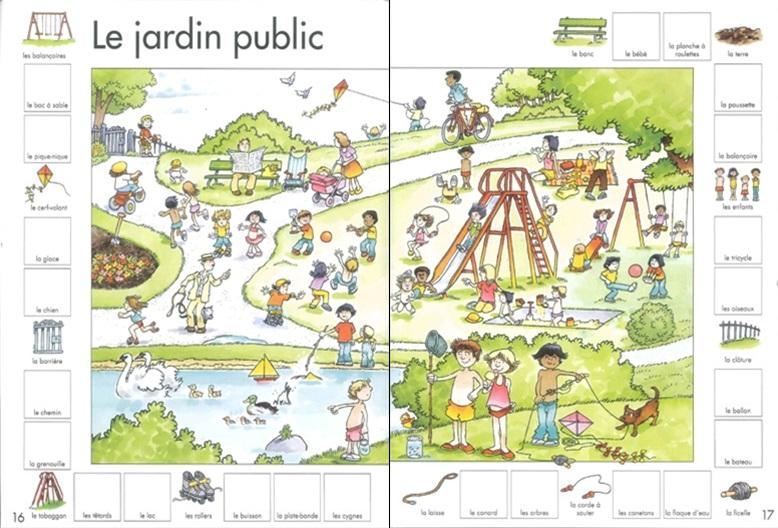 Mille premiers mots jardin public page 16 editions Usborne