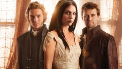Reign -- Image: RE01_KEYGroup1 -- Pictured (L-R): Toby Regbo as Prince Francis, Adelaide Kane as Mary, Queen of Scots, and Torrance Coombs as Bash – Photo: Mathieu Young/The CW -- © 2013 The CW Network, LLC. All rights reserved.