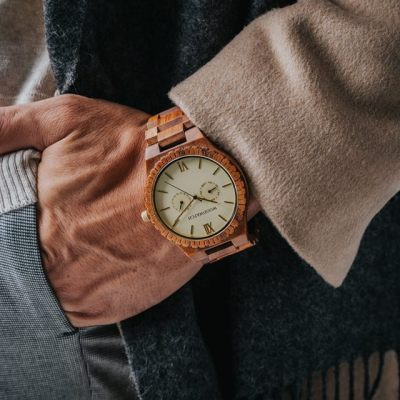 Affordable Woodwatch champagne gold