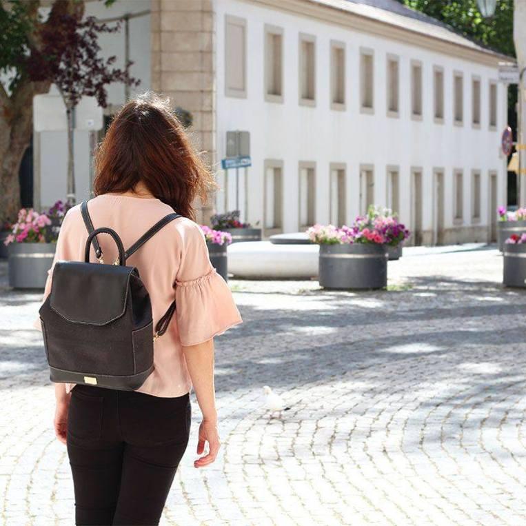 Cork handbag Rokcork. Cork backpack