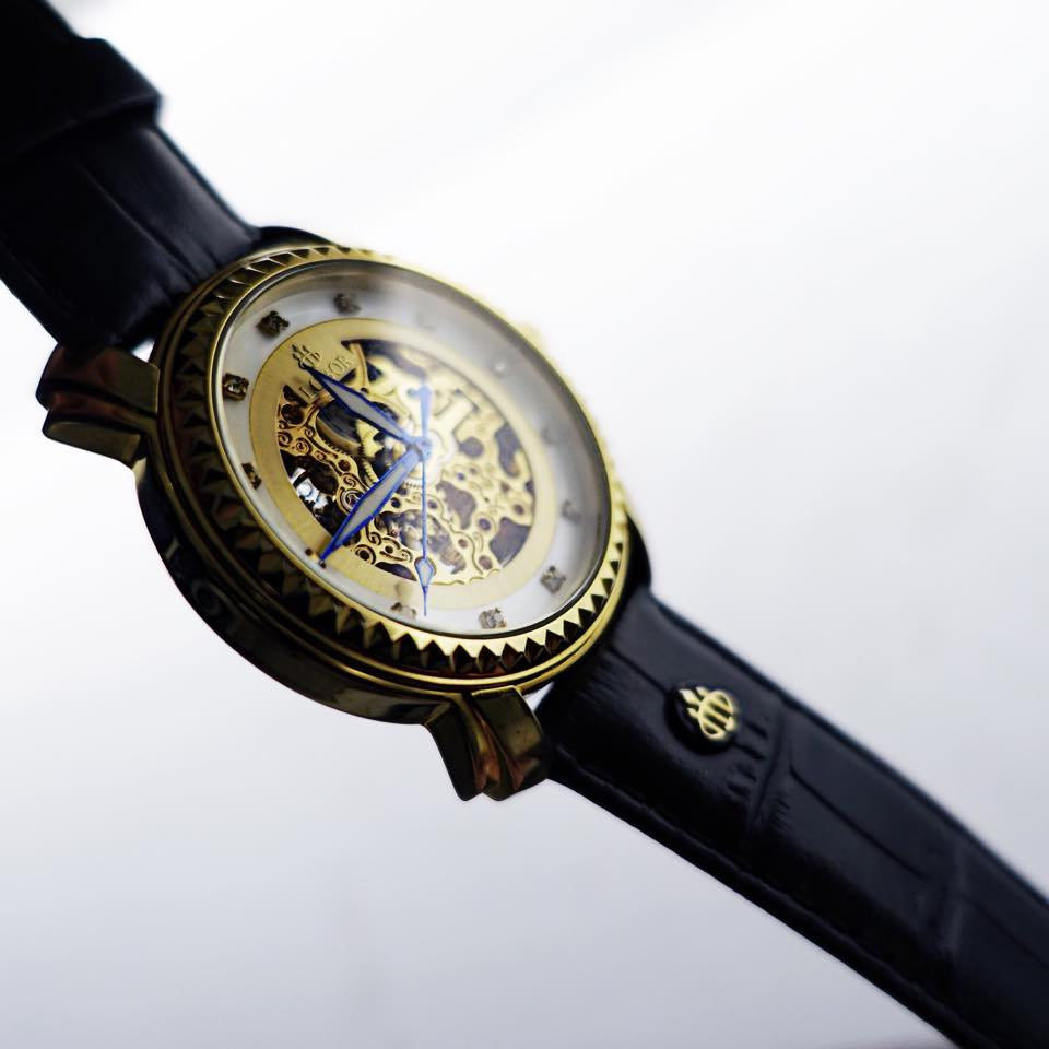 Lobor Automatic skeleton watches Gold