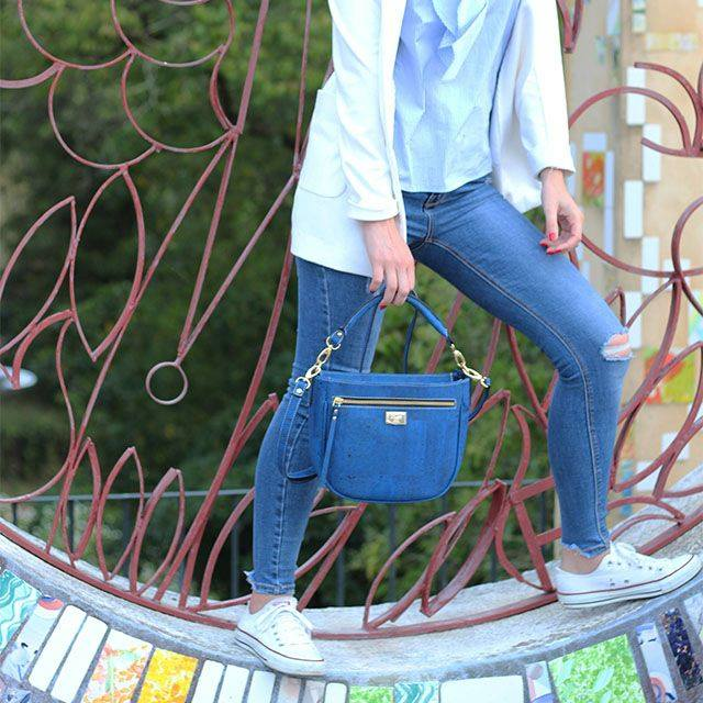 Cork handbags. Cork Blue Purse